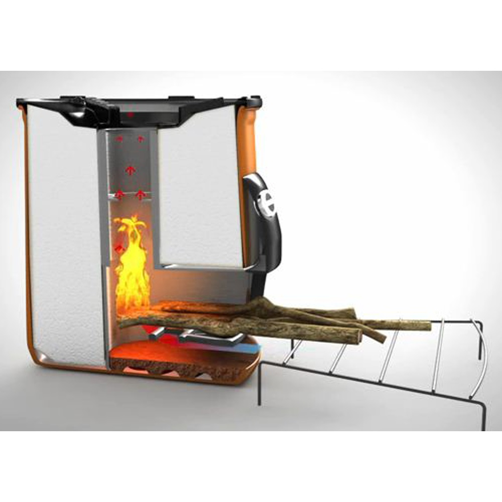 Envirofit g3300 portable rocket stove in orange bbq 39 s for Portable rocket stove plans