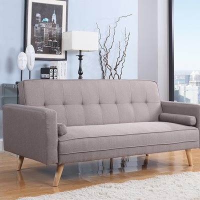 ETHAN UPHOLSTERED SOFA BED in Light Grey