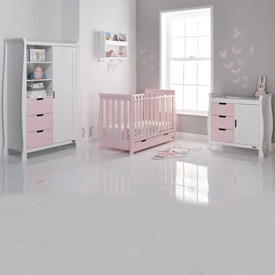 STAMFORD MINI COT BED 3 PIECE NURSERY SET in Eton Mess by Obaby