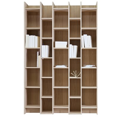 EXPAND CABINET & BOOKCASE WITH EXTENSION in Oak Veneer