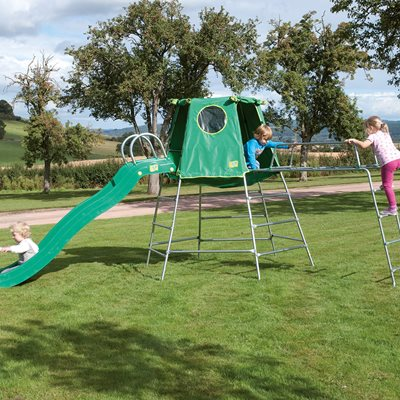TP TOYS CHILDREN'S EXPLORER CLIMBING FRAME AND DEN  with Slide and Jungle Run