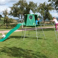 TP TOYS CHILDRENS EXPLORER CLIMBING FRAME AND DEN  with Slide and Jungle Run