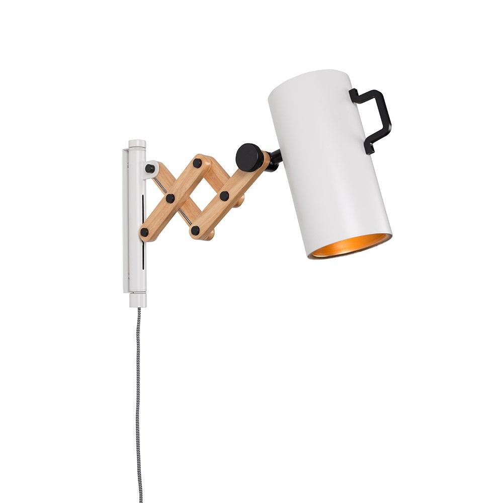 Wall Lights Extendable : Flex Extendable Arm Wall Light in White - Wall Lights Cuckooland