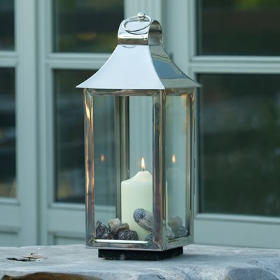 CULINARY CONCEPTS EXTRA SMALL TONTO LANTERN in Stainless Steel with Nickel Plate