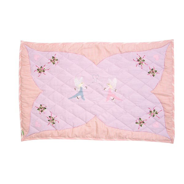 FAIRY COTTAGE Large Floor Quilt