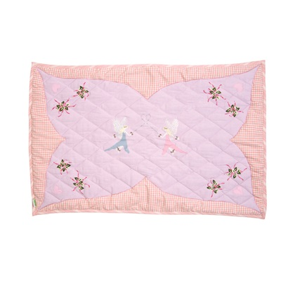 Fairy Cottage Large Floor Quilt by Win Green