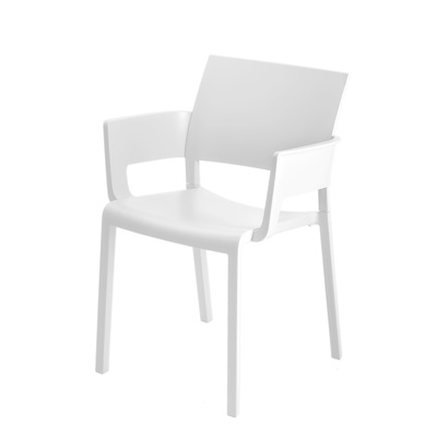 FIONA RESIN ARMCHAIR in White