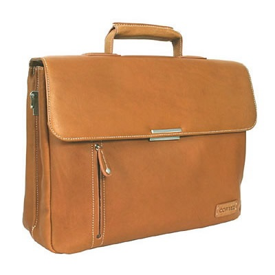 THE BARRISTER FLAPOVER BRIEFCASE In Tan by Adventure Avenue