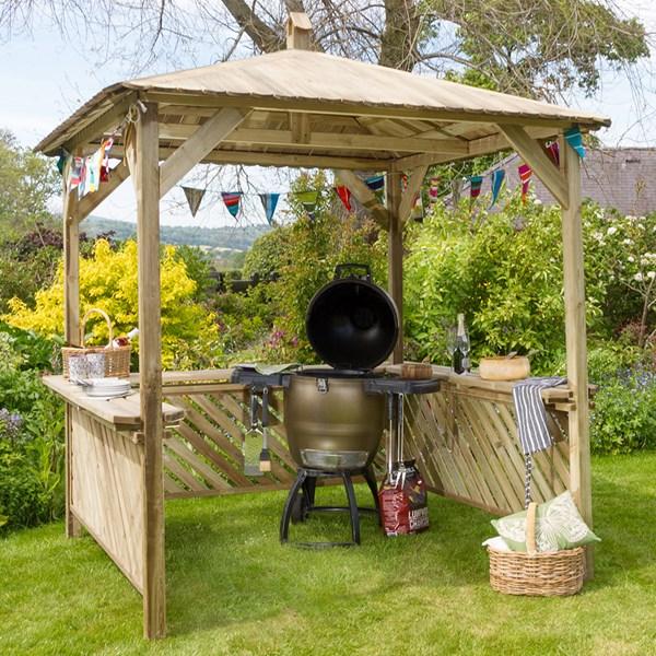 Zest 4 Leisure Broxton Garden BBQ Gazebo