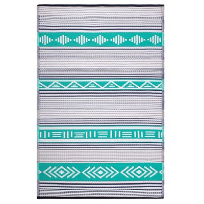 FAB HAB IBIZA OUTDOOR RUG in Green Multi