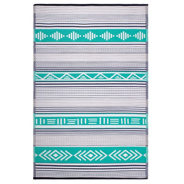 Fab Hab Ibiza Outdoor Rug in Green