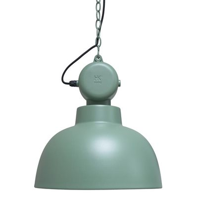 INDUSTRIAL FACTORY PENDANT CEILING LAMP in Matt Green