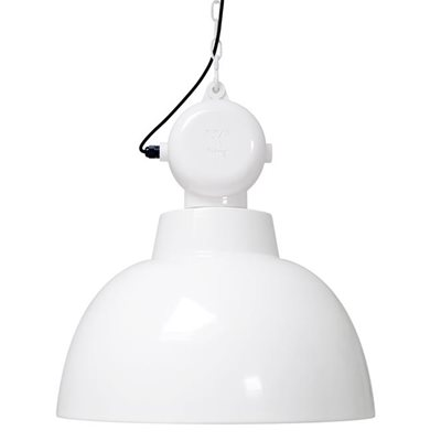 INDUSTRIAL FACTORY PENDANT CEILING LIGHT in Gloss White
