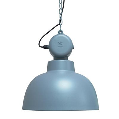 INDUSTRIAL FACTORY PENDANT CEILING LAMP in Matt Blue