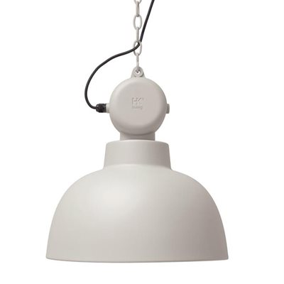 INDUSTRIAL FACTORY PENDANT CEILING LAMP in Matt Sand