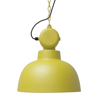 INDUSTRIAL FACTORY PENDANT CEILING LAMP in Matt Yellow
