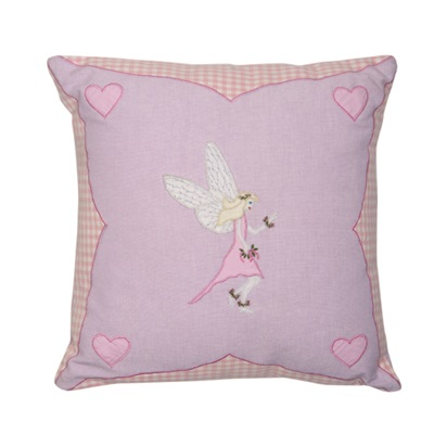 Fairy Childrens Cushion Cover by Win Green