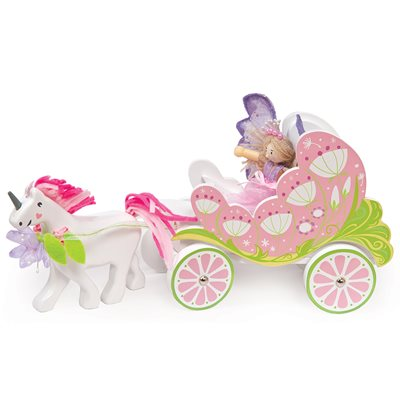 LE TOY VAN FAIRYBELLE CARRIAGE with Unicorn and Fairy Figures