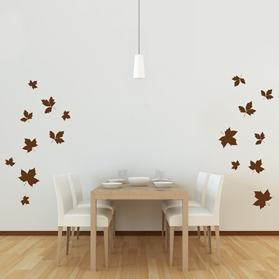 WALL STICKER in 'Falling Leaves' design