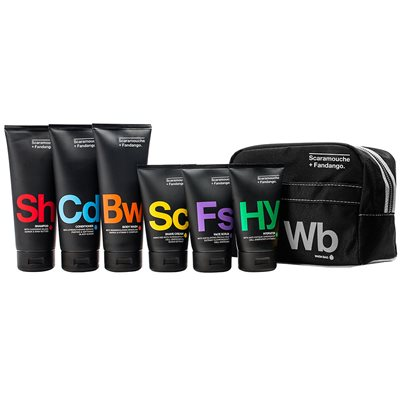 SCARAMOUCHE & FANDANGO MEN'S WASH BAG with Toiletries