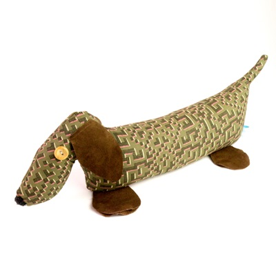 DACHSHUND LIBERTY PRINT LAVENDER DOORSTOP Farhad Cotton & Leather