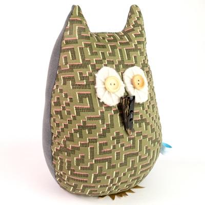 OWL LIBERTY PRINT LAVENDER DOORSTOP Farhad Cotton