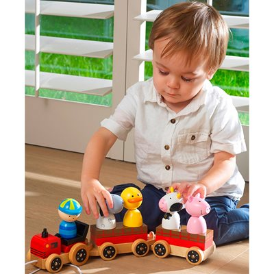FARM ANIMALS PULL ALONG PUZZLE TRAIN