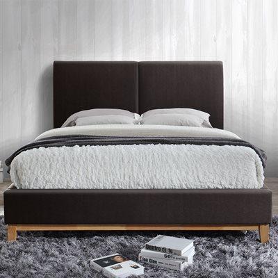 HELSINKI UPHOLSTERED BED in Faux Leather by Birlea