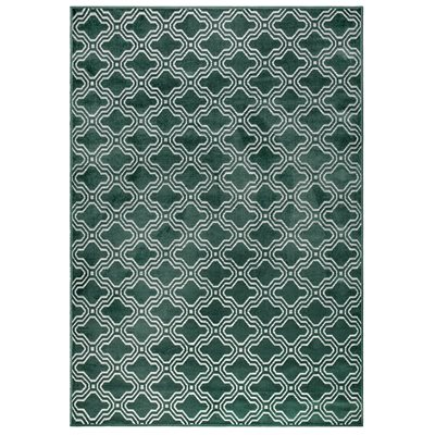 Feike Tile Pattern Rug in Green