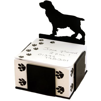 FIELD SPANIEL DOG NOTE BLOCK PAPER HOLDER