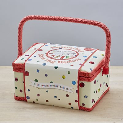 BUTTONBAG LARGE FILLED SEWING BOX