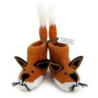 CHILDREN'S Animal Slippers in Finlay Fox Design