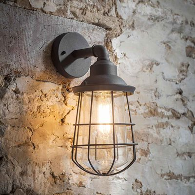 GARDEN TRADING FINSBURY WALL LIGHT in Charcoal