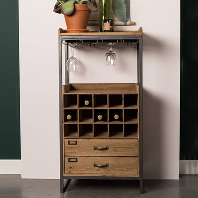 EDGAR WINE CABINET with Drawers