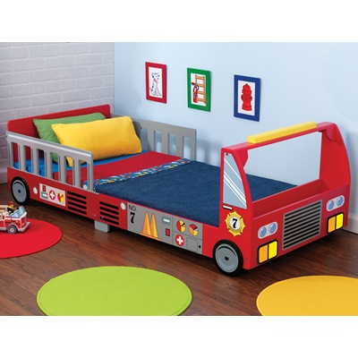 FIRE TRUCK TODDLER BED for Boys & Girls