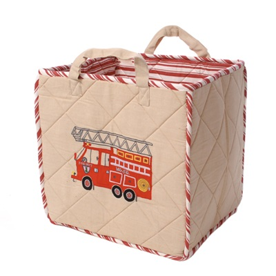 FIRE STATION Toy Bag by Win Green