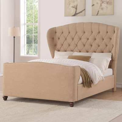 FARNHILL UPHOLSTERED BED IN CREAM by Flair Furnishings