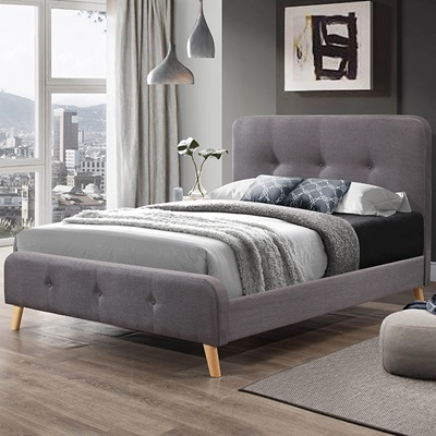 NORDIC UPHOLSTERED BED by Flair Furnishings