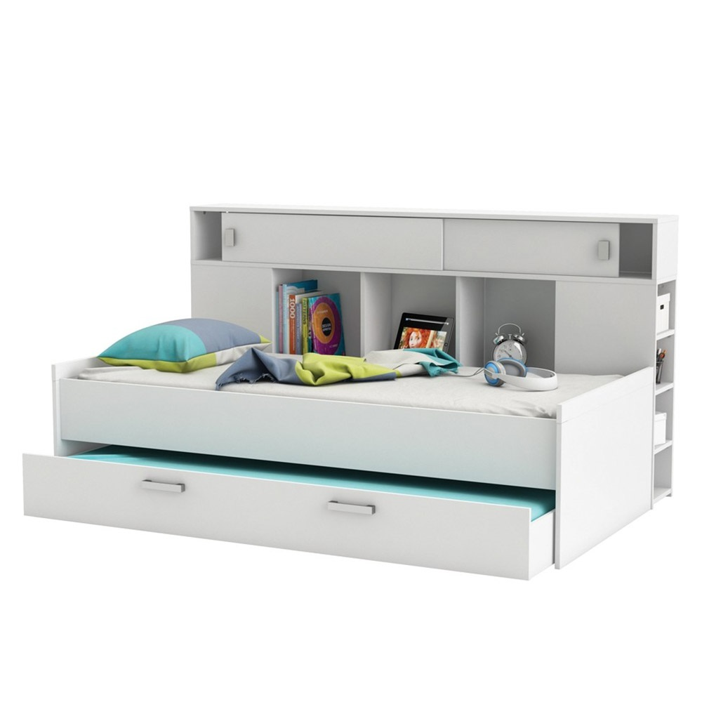 kids sherwood cabin bed with trundle drawer flair furniture cuckooland. Black Bedroom Furniture Sets. Home Design Ideas