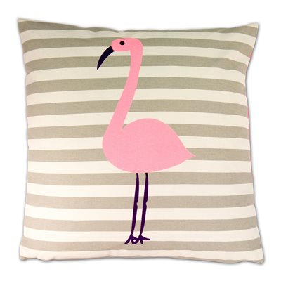 LUXURY CUSHION in Pink Flamingo Design