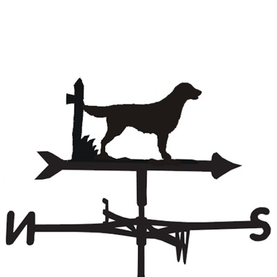 WEATHERVANE in Flat Coat Dog Design