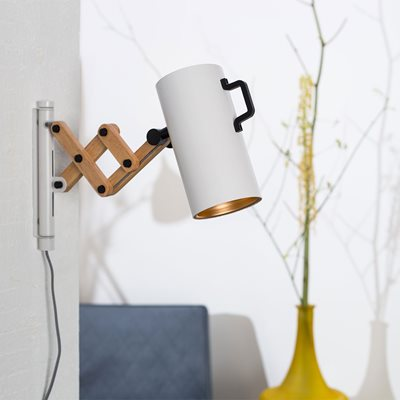 FLEX EXTENDABLE ARM WALL LIGHT in Matte White