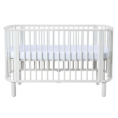 FLEXA 5 in 1 BABY COT BED in White