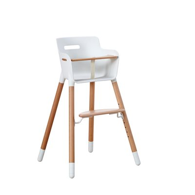 FLEXA HIGH CHAIR in Beech with Safety Bar For up to 12 Yrs