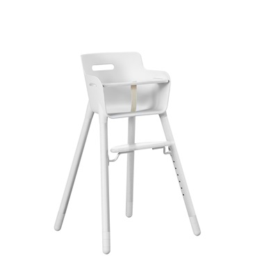 FLEXA HIGH CHAIR in White with Safety Bar For up to 12 Yrs