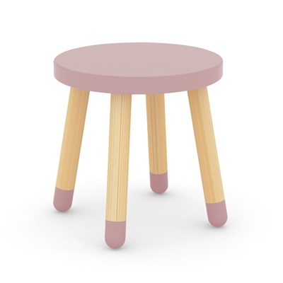 FLEXA KIDS STOOL in Rose Pink