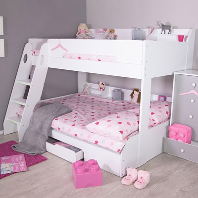 Cuckooland & Flick Triple Bunk Bed in White