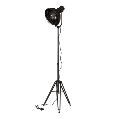 LARGE METAL TRIPOD FLOOR LAMP in Black