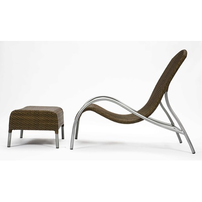 FLOW GARDEN LOUNGER CHAIR with Footstool