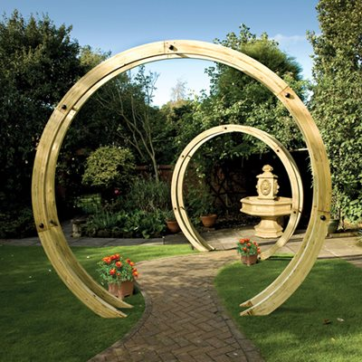 Grange Wooden Freestanding Flower Circle Arch